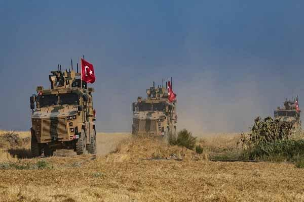 ورود کاروان نظامی ترکیه به حومه رأس العین