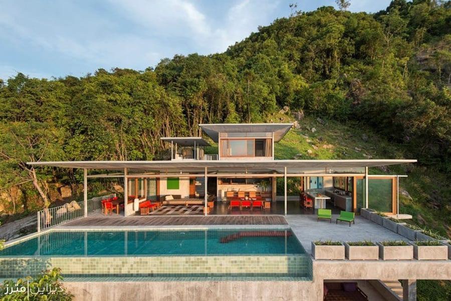 معماری خانه ای در قلب طبیعت بی نظیر تایلند