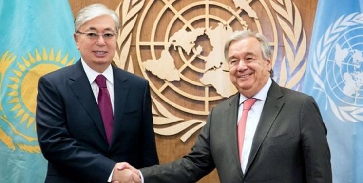 مقابله با کرونا محور گفت وگوی تلفنی رئیس جمهور قزاقستان و گوترش