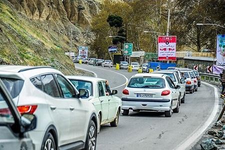 ترافیک پرحجم در جاده های شمال کشور