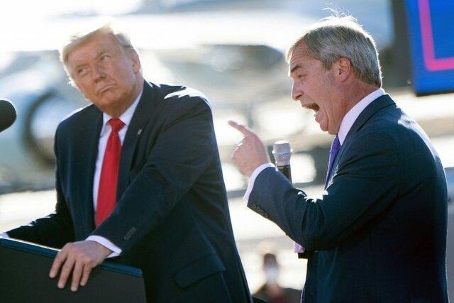 ترامپ به نایجل فاراژ لقب پادشاه اروپا را داد