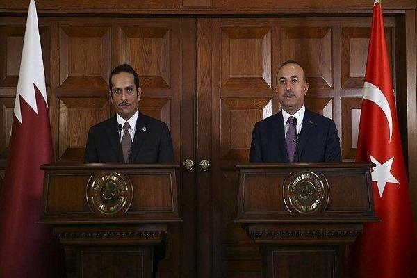 تاکید وزرای خارجه ترکیه و قطر بر کوشش برای حل مسائل ایران وآمریکا