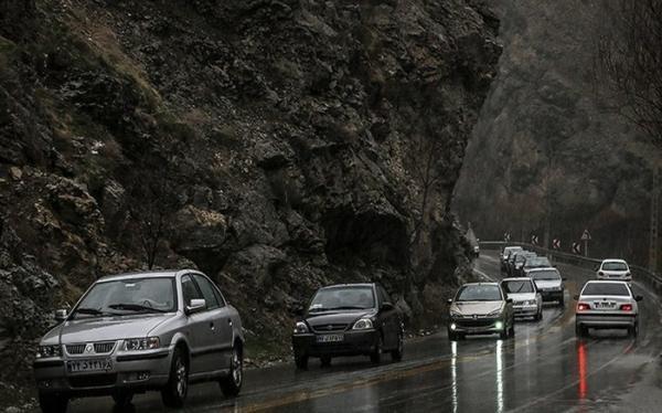 ترافیک سنگین در آزادراه تهران - شمال