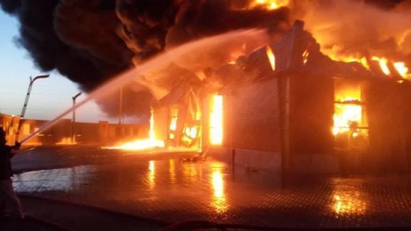 (ویدئو) جزئیات آتش سوزی مهیب کارخانه فراوری الکل در قم