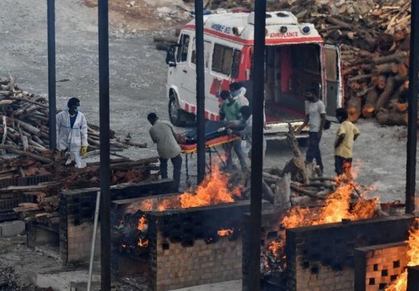 هند بالاترین رکورد تلفات روزانه کرونا در جهان را ثبت کرد