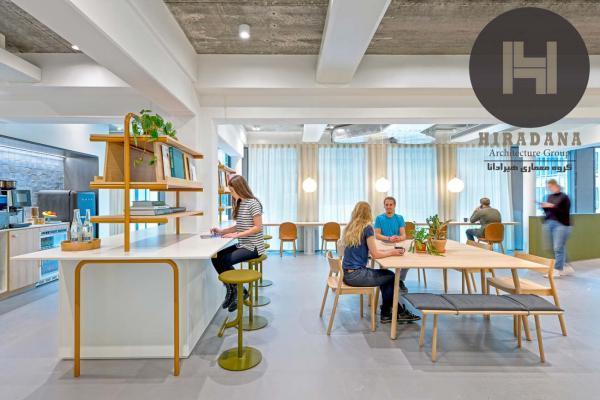 طراحی داخلی دفتر اوبر در آمستردام